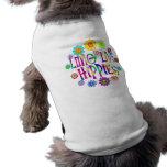 Viven de largo los hippies camisetas de perro