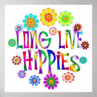 Viven de largo los hippies póster