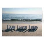 Viven las tarjetas del amor de la risa