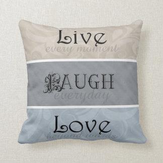 Viven los neutrales del amor de la risa cojín