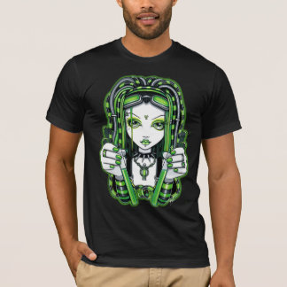 """Vivian"" Cyber goth Dark Industrial Fairy Shirt"