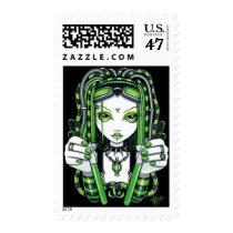 vivian, cybergoth, cyberpunk, gothic, fairy, faery, faerie, fae, fantasy, art, myka, jelina, mika, faeries, Stamp with custom graphic design