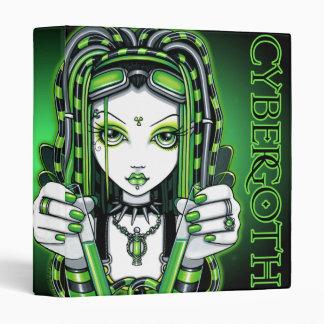 """Vivian"" Cybergoth Green Fairy Binder"