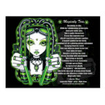 Vivian Cybergoth Magically Toxic Poem Postcard