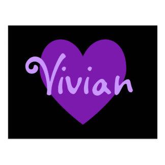 Vivian en púrpura postal