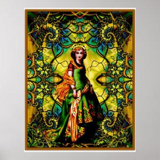 Vivian, Goddess Of Woodland Mystique Poster