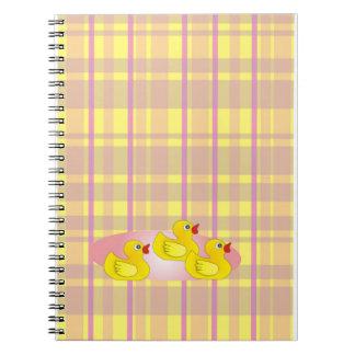 Vivian Plaid Rubber Duck Parade Note Book