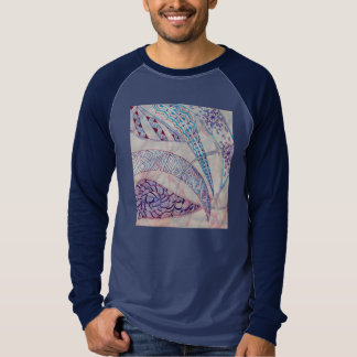 Vivid abstract graphics in blue and purple T-Shirt