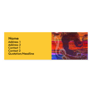 Vivid Abstract Guitar Hands Profile Card Double-Sided Mini Business Cards (Pack Of 20)