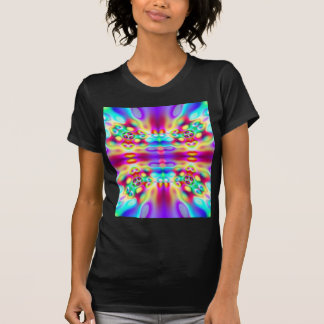 Vivid Abstract Rainbow Convergence Fractal Tshirt