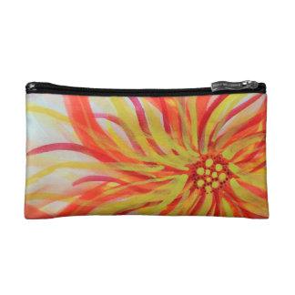 Vivid abstract watercolor floral cosmetic bag