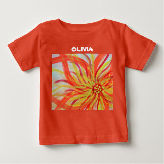 Vivid abstract watercolor floral infant t-shirt