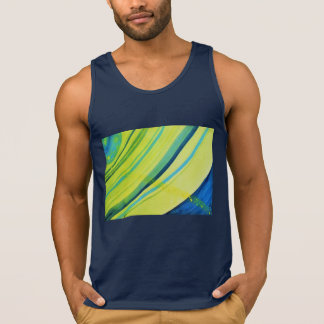 Vivid abstract watercolor planet with rings tank top