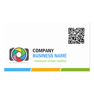Vivid and Colorful Photography with QR Code Double-Sided Standard Business Cards (Pack Of 100)