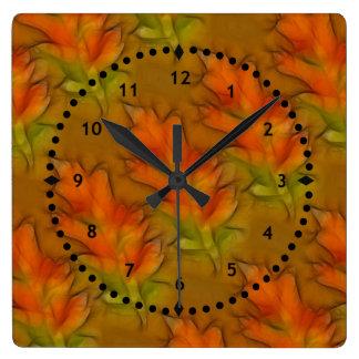 Vivid Autumn Leaves Wall Clock