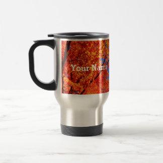 Vivid Autumn Orange Maple Leaves Fall Blue Sky Travel Mug