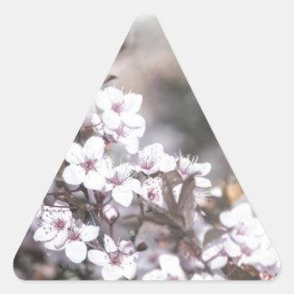 Vivid Blossoms Triangle Sticker