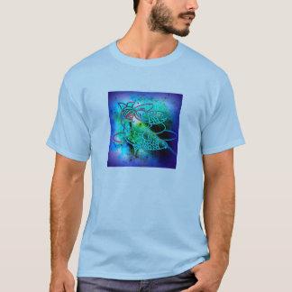 Vivid Blue Fish T Shirt