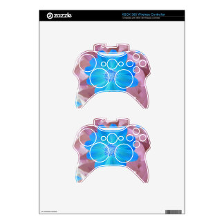 Vivid blue flower design xbox 360 controller decal