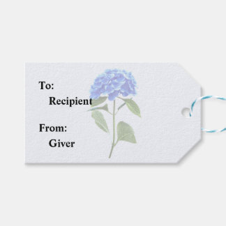 Vivid Blue Hydrangea Gift Tags