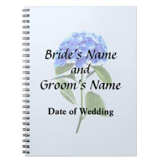 Vivid Blue Hydrangea Notebook