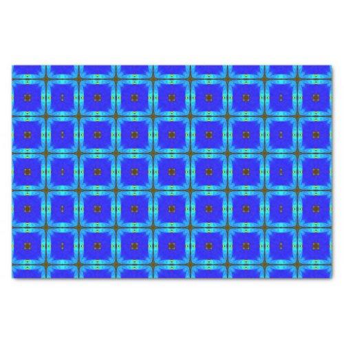 Vivid Blue Squares Tissue Paper
