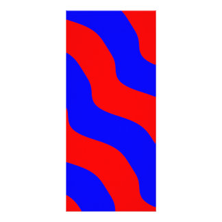 Vivid Bold Waves of Red and Blue Stripes Rack Card
