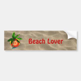 Vivid Bright Palm & Sun Bumper Sticker