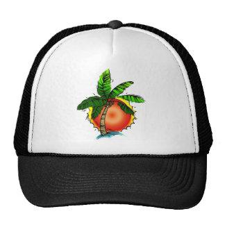 Vivid Bright Palm & Sun Mesh Hat