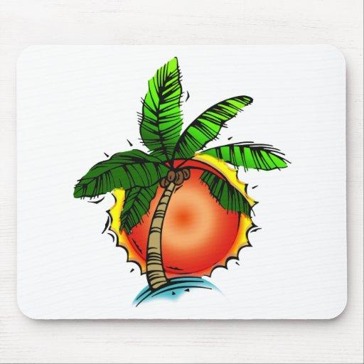 Vivid Bright Palm & Sun Mouse Pad