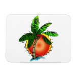 Vivid Bright Palm & Sun Vinyl Magnets