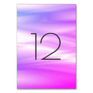 Vivid Bright Pink Rose White Vertical Table Number