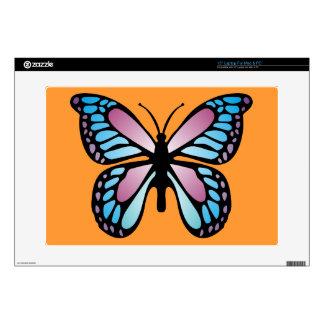 """Vivid Butterfly 15"""" Laptop Skin"""