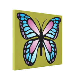 Vivid Butterfly Canvas Prints