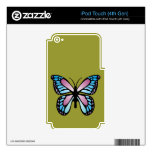 Vivid Butterfly Decal For iPod Touch 4G
