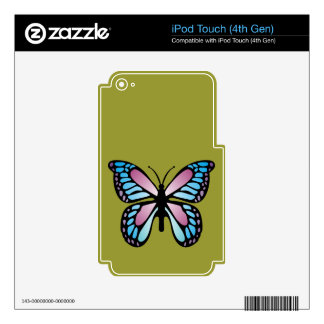 Vivid Butterfly iPod Touch 4G Skin