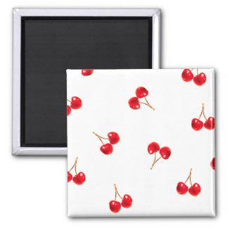 Vivid Cherry Pattern Refrigerator Magnet