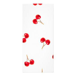Vivid Cherry Pattern Rack Card