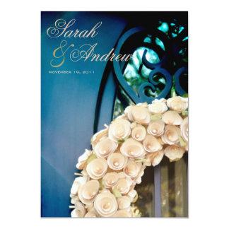 Vivid Church Doors Wedding Invitation