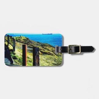 Vivid coastline travel bag tag