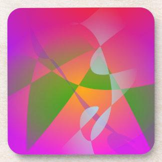 Vivid Color Digital Abstract Painting Beverage Coaster