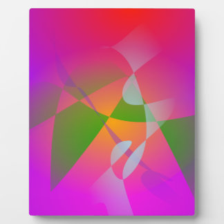 Vivid Color Digital Abstract Painting Plaques