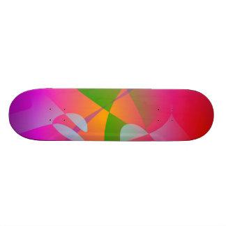 Vivid Color Digital Abstract Painting Custom Skate Board