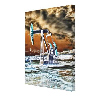 Vivid Color Oilwell Pumping (pump jack) Unit Canvas Print