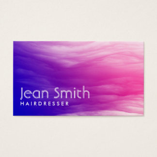 Vivid Colorful Clouds Hairdresser Business Card