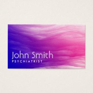 Vivid Colorful Clouds Psychiatrist Business Card