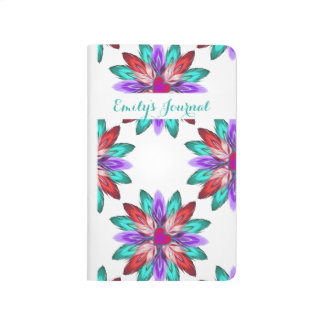 Vivid Colorful Feathers Bound Journal