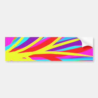 Vivid Colorful Paint Brush Strokes Girly Art Bumper Sticker