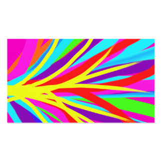 Vivid Colorful Paint Brush Strokes Girly Art Double-Sided Standard Business Cards (Pack Of 100)