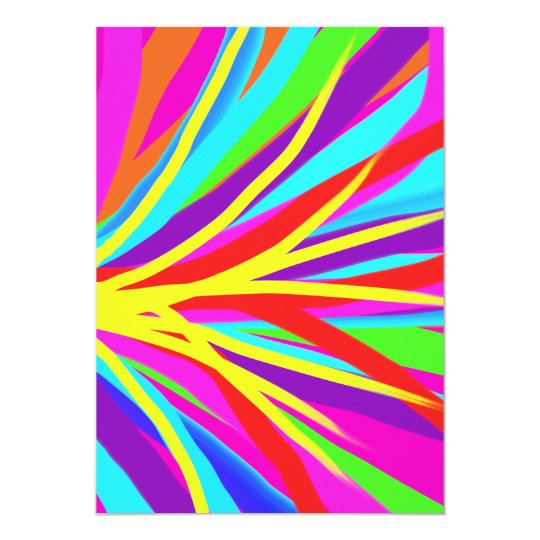 Vivid Colorful Paint Brush Strokes Girly Art Card